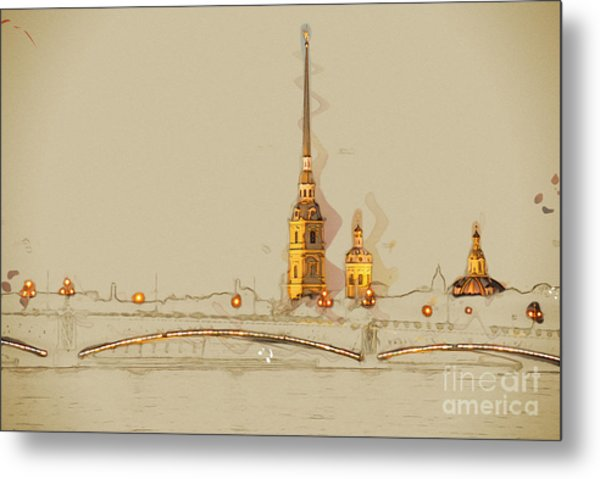 The Peter And Paul Fortress, Saint Metal Print