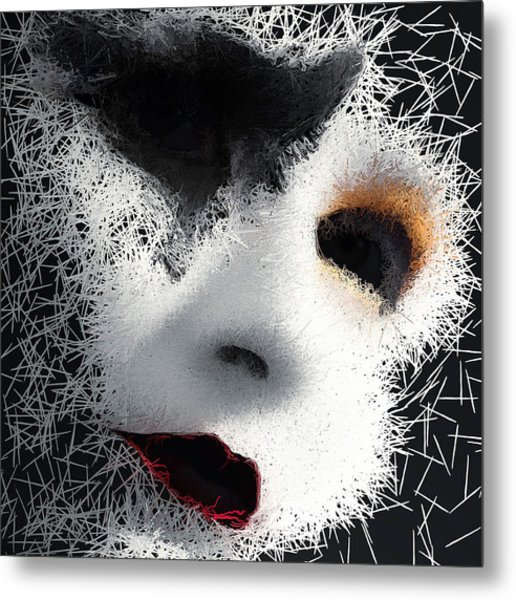 Metal Print featuring the digital art The Phantom Of The Arts by ISAW Company