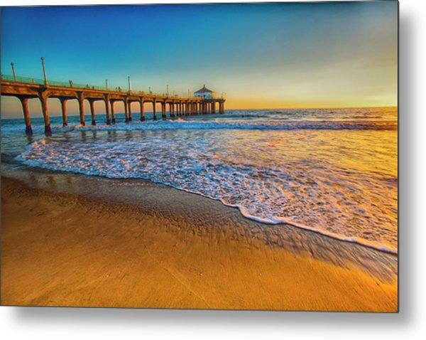 The Pier At Sunset Metal Print by Fernando Margolles