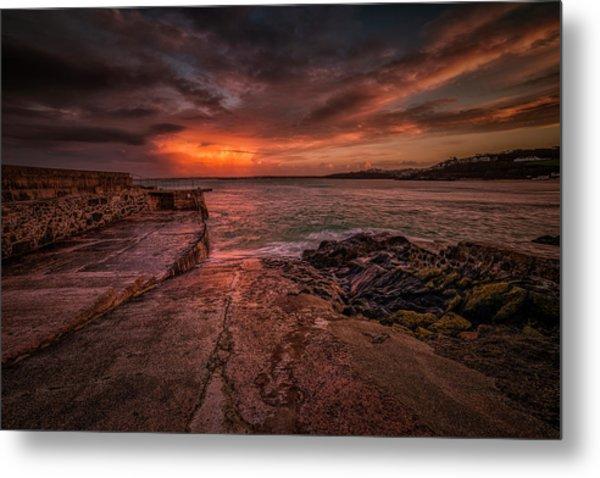 The Pier Sunset Metal Print
