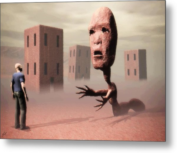 The Politician And I Metal Print