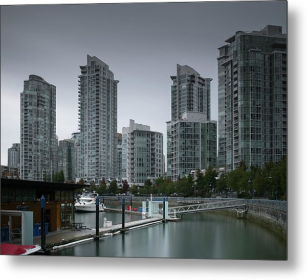 The Quayside Marina - Yaletown Apartments Vancouver Metal Print
