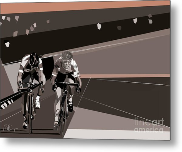 The Race Is On Metal Print