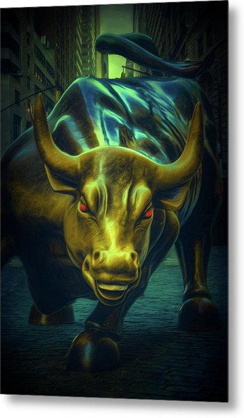 Metal Print featuring the photograph The Raging Bull by Chris Lord
