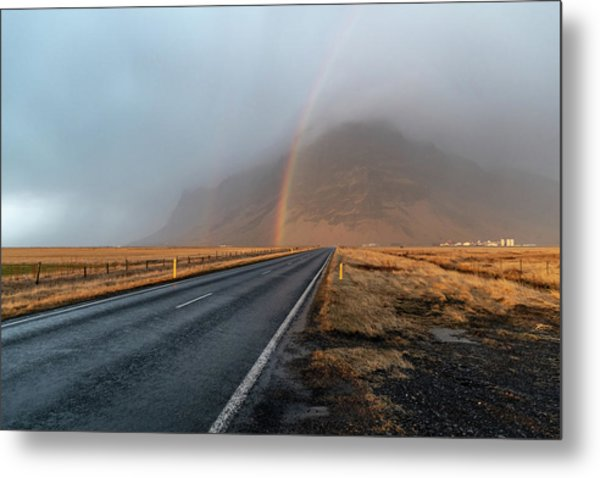 The Rainbow Road Metal Print