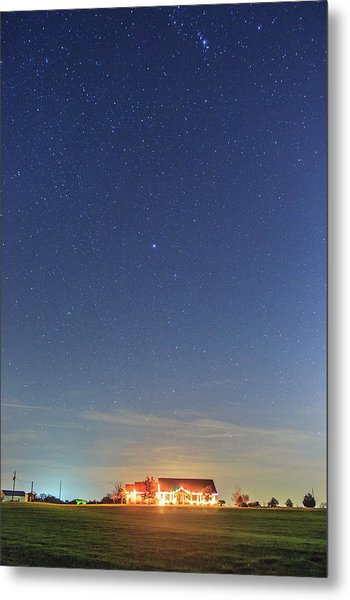 The Ranch Under The Stars Metal Print
