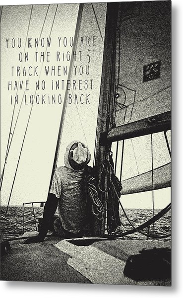 The Right Track Metal Print
