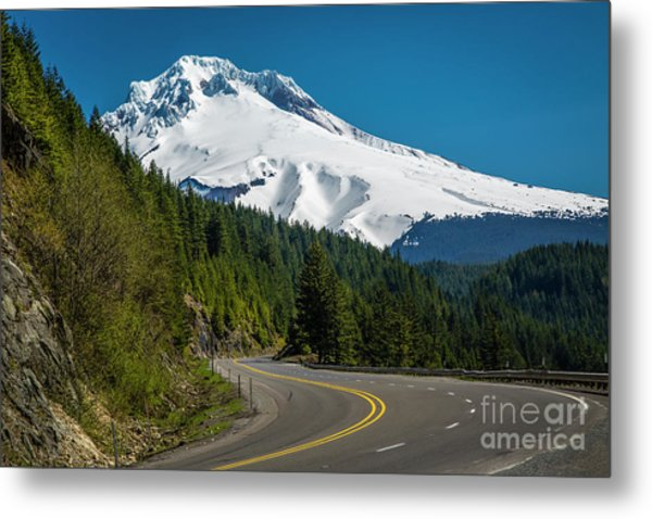 The Road To Mt. Hood Metal Print