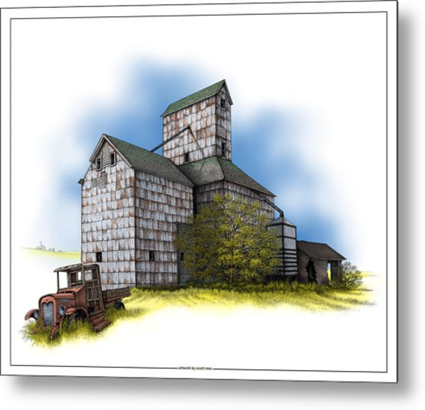 The Ross Elevator Autumn Metal Print