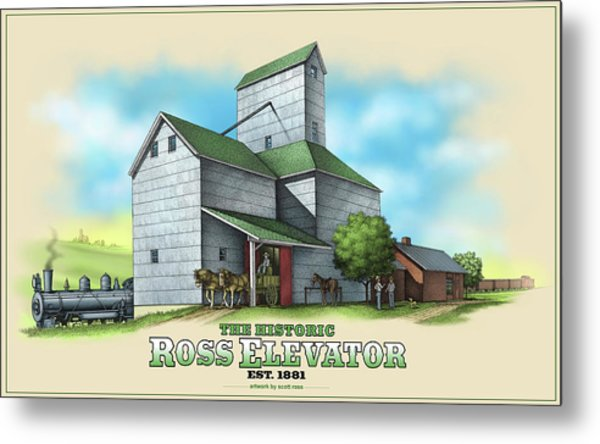 The Ross Elevator Metal Print