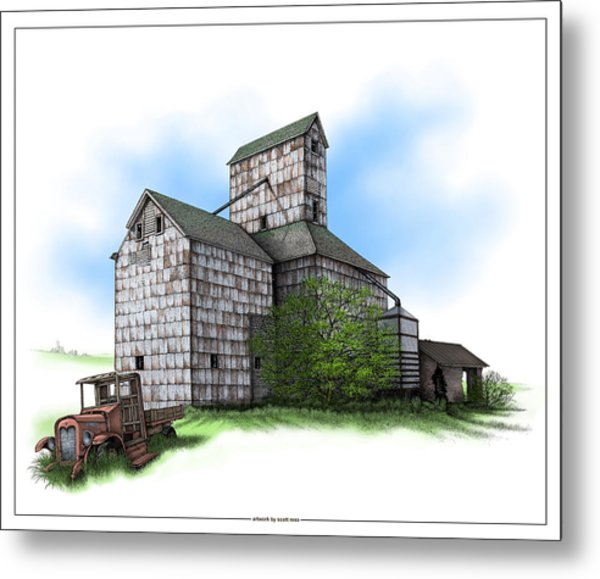The Ross Elevator Summer Metal Print