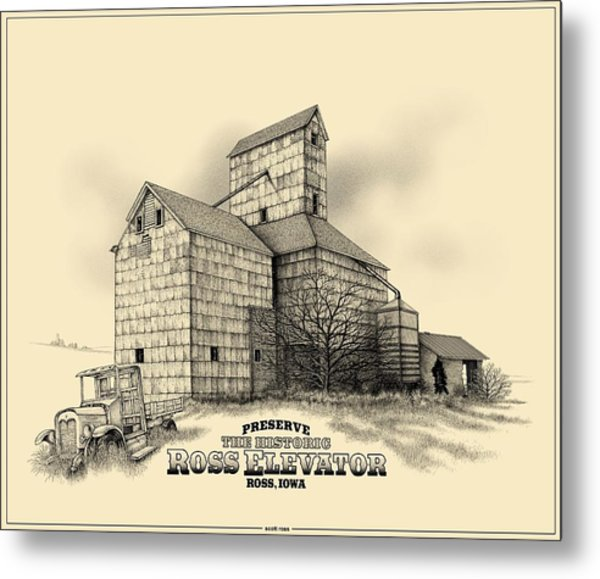 The Ross Elevator Version 2 Metal Print