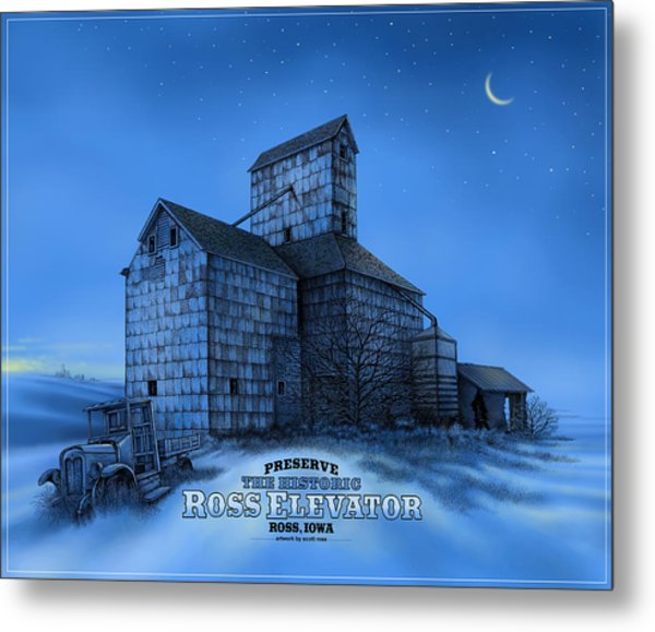 The Ross Elevator Version 3 Metal Print