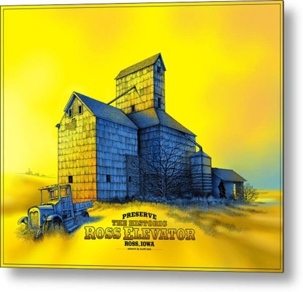 The Ross Elevator Version 4 Metal Print