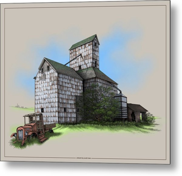 The Ross Elevator Version 5 Metal Print