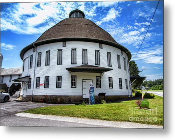 The Round Barn Metal Print