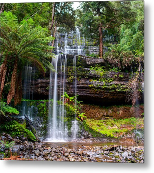 The Russell Falls, A Tiered Cascade Metal Print