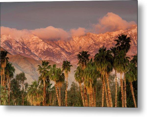 The San Jacinto And Santa Rosa Mountain Metal Print by Danita Delimont
