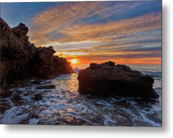 The Sea In Oropesa At Sunrise On The Orange Blossom Coast Metal Print