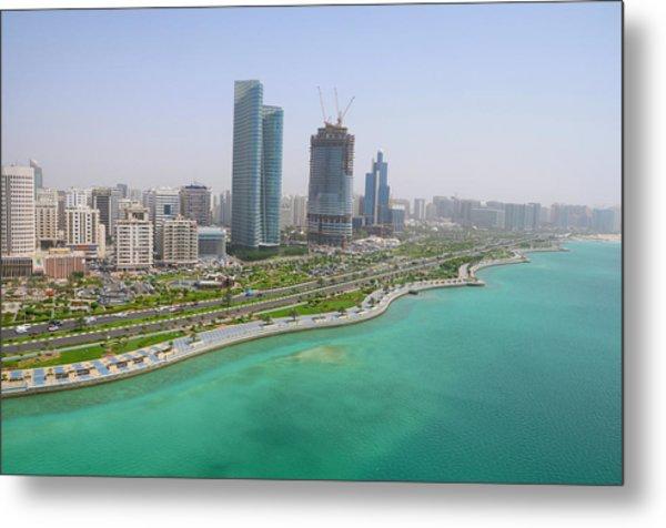 The Seaside City Of Corniche Abu Dhabi Metal Print
