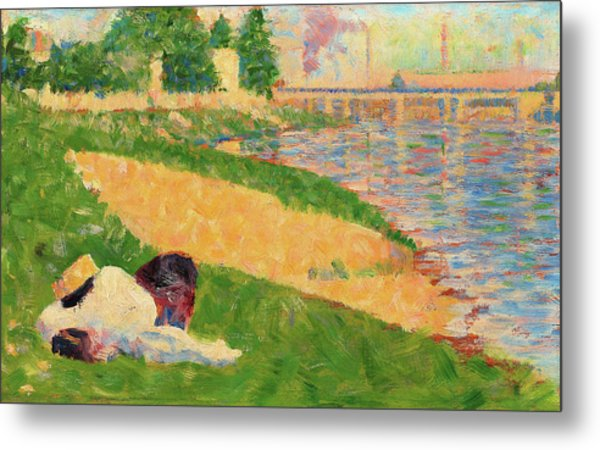 The Seine With Clothing On The Bank - Digital Remastered Edition Metal Print