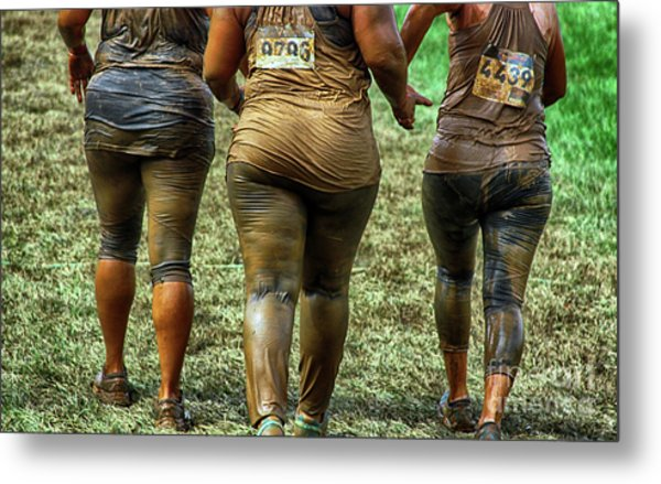 The Shapes Of Mud Metal Print by Steven Digman