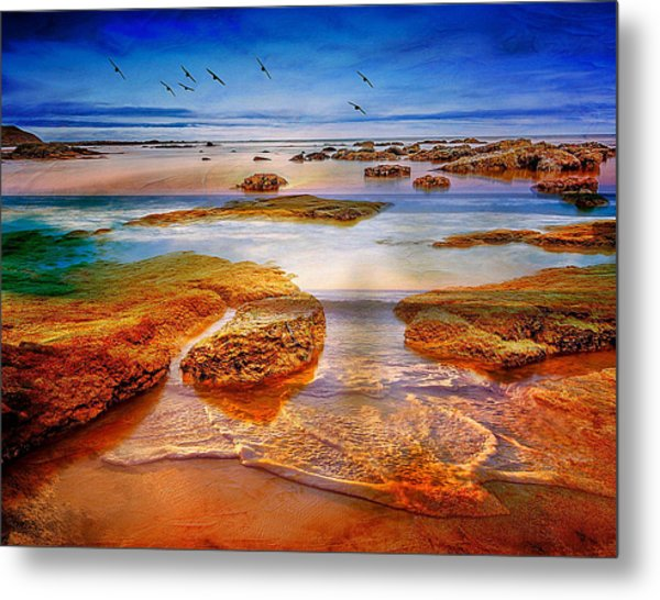 The Silent Morning Tide Metal Print