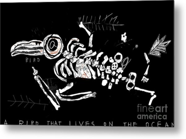 The Skeleton Of A Bird Which Ate Metal Print