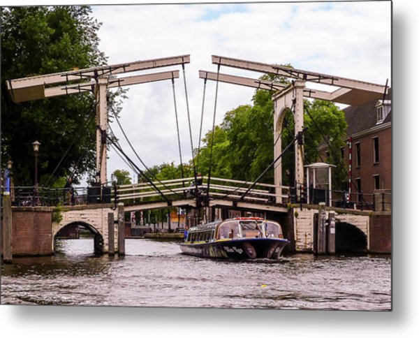 The Skinny Bridge Amsterdam Metal Print