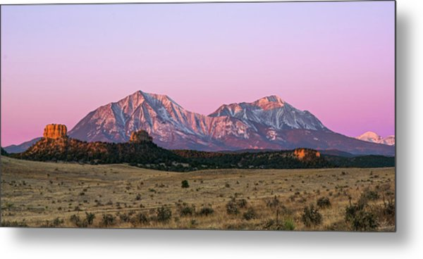 The Spanish Peaks Metal Print