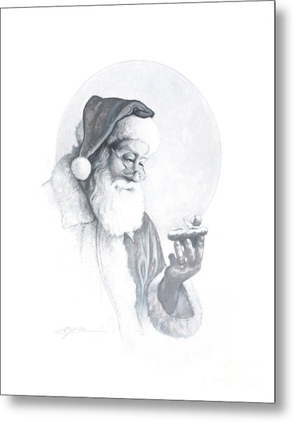 The Spirit Of Christmas Vignette Metal Print