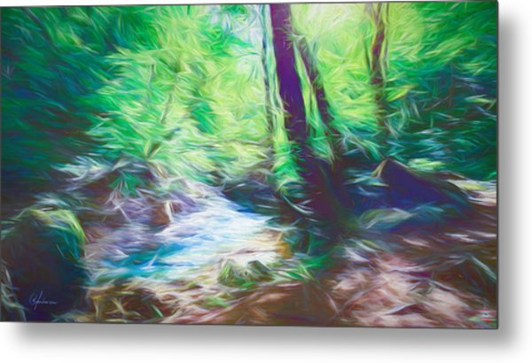 The Stream In The Forest Metal Print