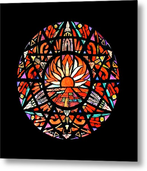the Sun is Aflame Metal Print