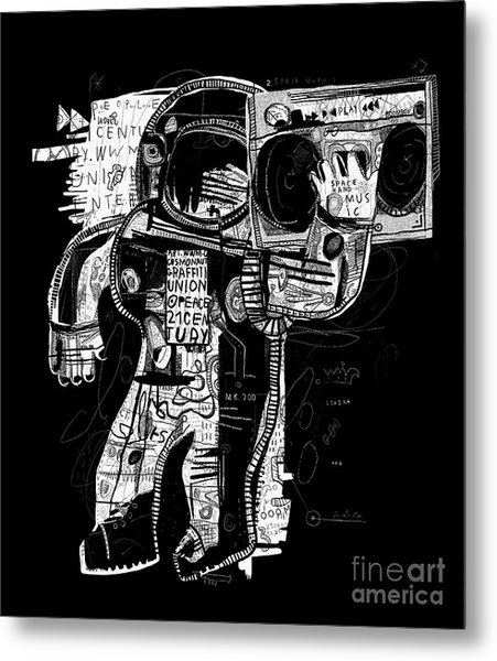 The Symbolic Image Of The Astronaut Who Metal Print
