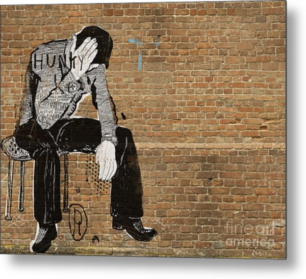 The Symbolic Image Of The Man Who Sat Metal Print