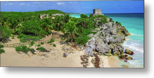 The Temple By The Sea Metal Print