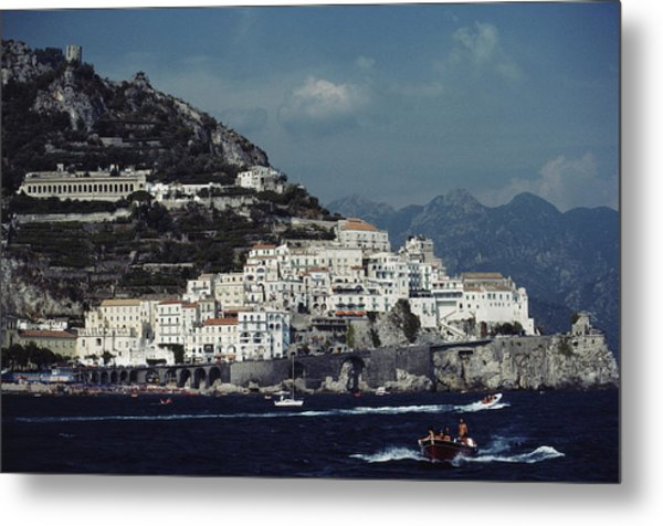 The Town Of Amalfi Metal Print by Slim Aarons