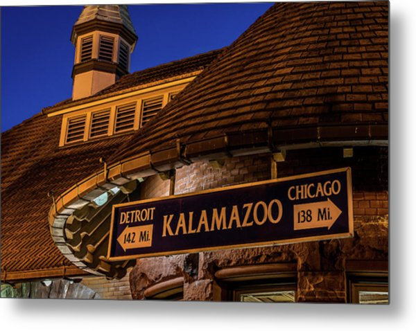 The Train Station In Kalamazoo Metal Print
