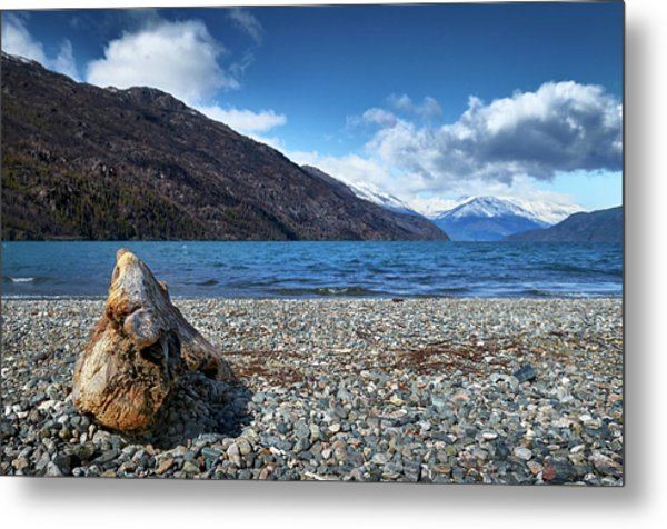 The Trunk, The Lake And The Mountainous Landscape Metal Print