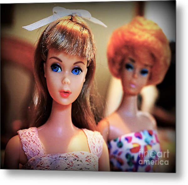 The Two Dolls Metal Print
