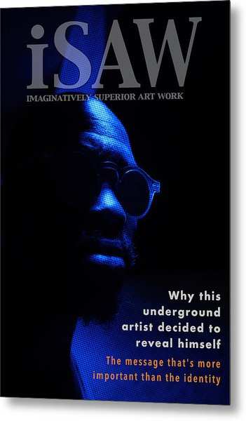Metal Print featuring the digital art The Underground Artist by ISAW Company