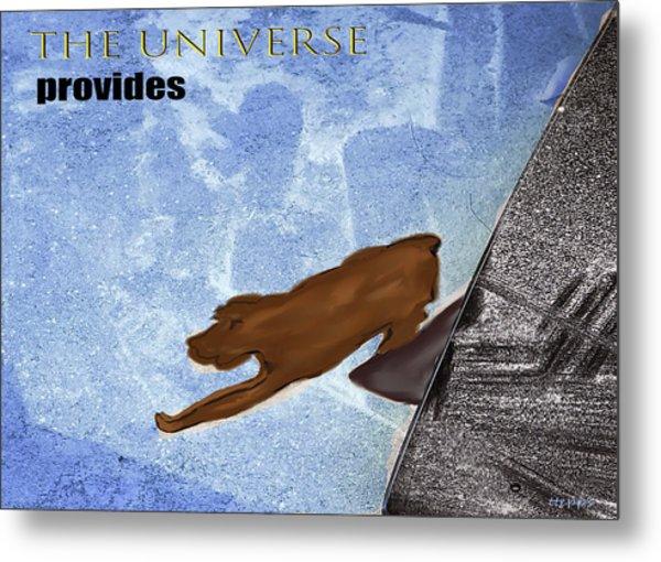 The Universe Provides Metal Print