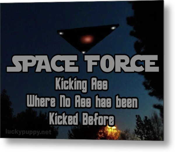 The United States . Space Force Metal Print