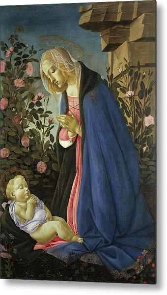 The Virgin Adoring The Sleeping Christ Child Metal Print