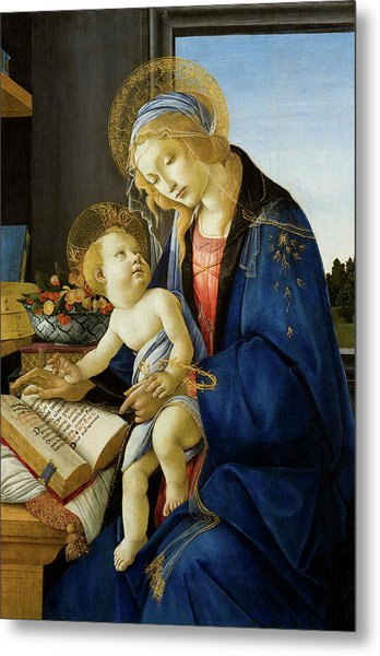 The Virgin And Child, The Madonna Of The Book Metal Print