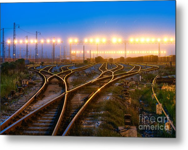 The Way Forward Railway Metal Print