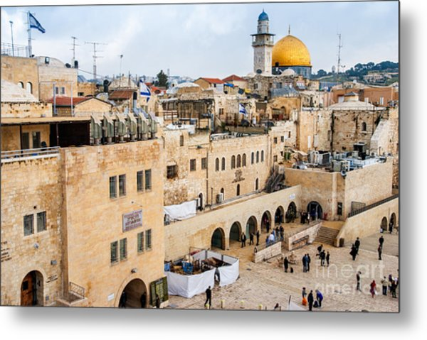 The Western Wall,temple Mount Metal Print