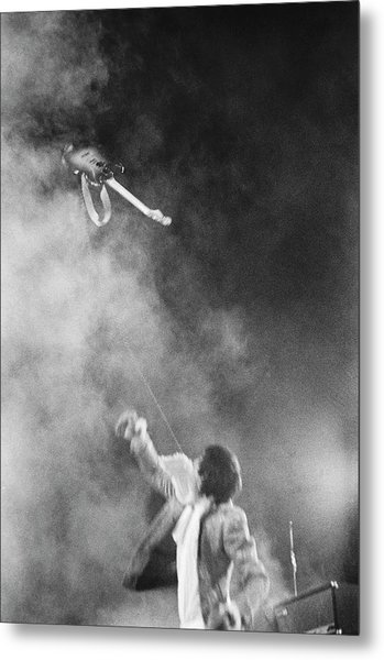 The Who Performing In Flint, Mi Metal Print by Michael Ochs Archives