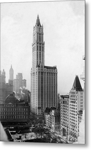 The Woolworth Building On Broadway Metal Print by Fpg