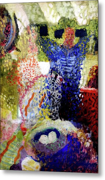 Metal Print featuring the painting The Word Was Made Flesh The Egg And I by Amzie Adams